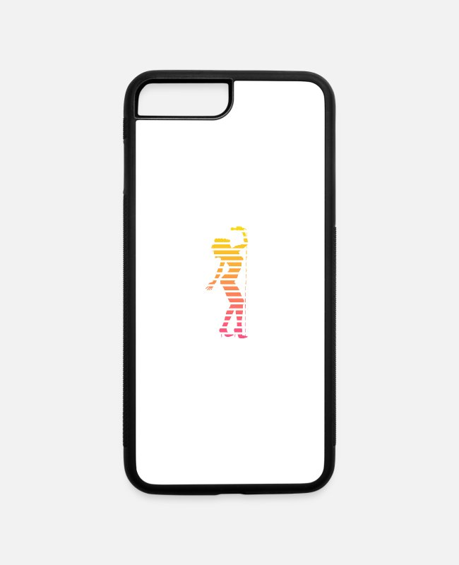 Duotone iPhone Cases - Sexy Singer Babe Silhouette - iPhone 7 & 8 Plus Case white/black