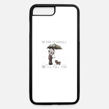 Jason Voorhees and dog Be kind to animals or I'll - iPhone 7 & 8 Plus Case