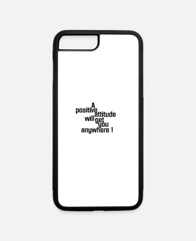New iPhone Cases - positive - iPhone 7 & 8 Plus Case white/black