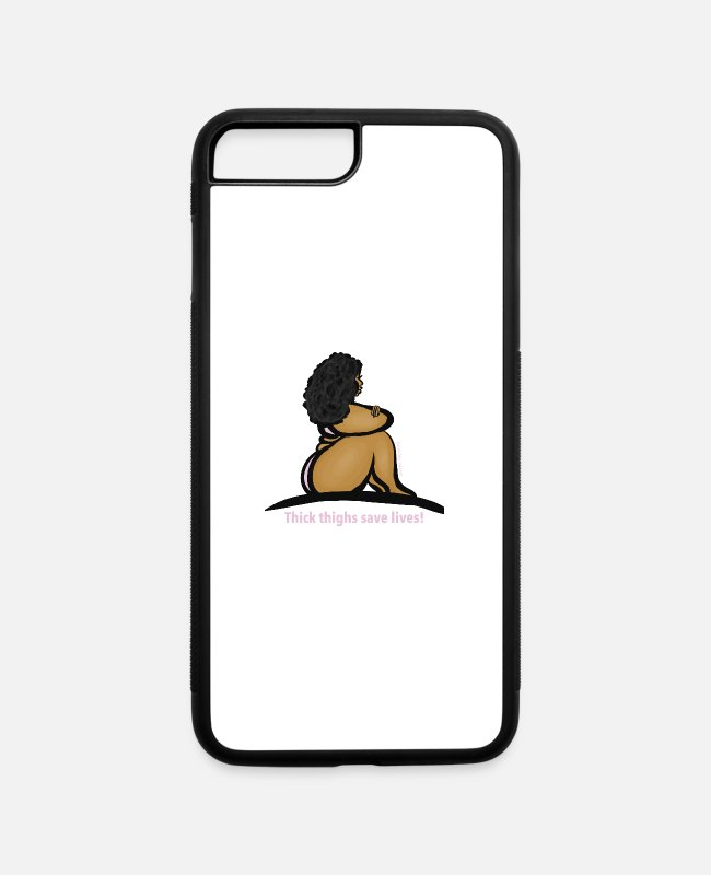Thick Girls iPhone Cases - Thick thighs save lives - iPhone 7 & 8 Plus Case white/black