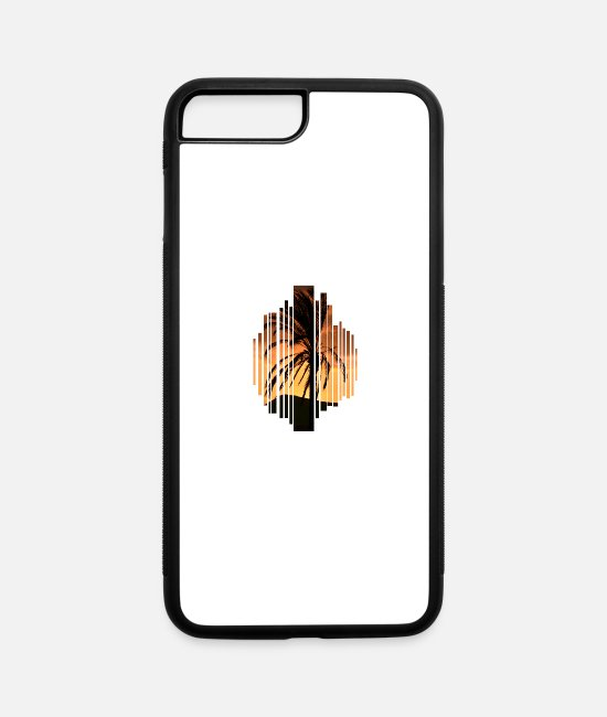 Palm Trees iPhone Cases - vacation - iPhone 7 & 8 Plus Case white/black