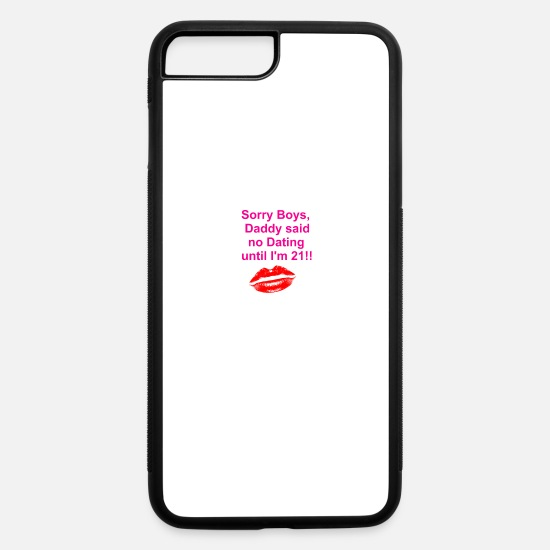 No iPhone Cases - no Dating - iPhone 7 & 8 Plus Case white/black