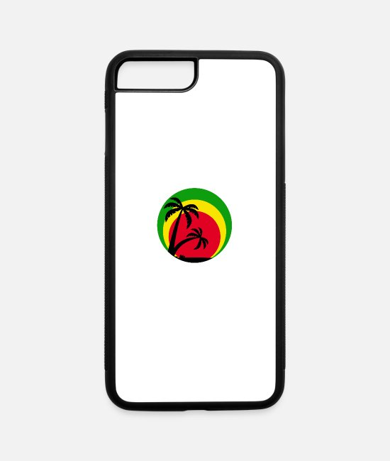 Rasta iPhone Cases - reggae - iPhone 7 & 8 Plus Case white/black