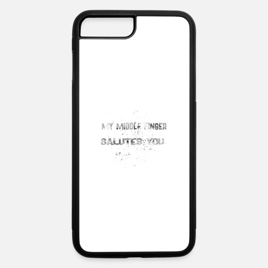 Bitch iPhone Cases - MY MIDDLES FINGER W - iPhone 7 & 8 Plus Case white/black