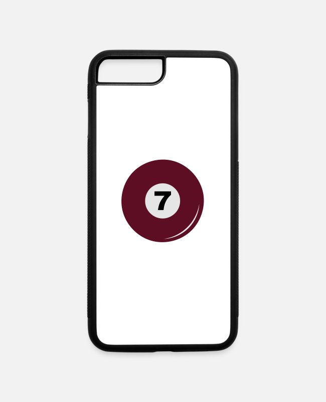 Ball iPhone Cases - Billiard ball number 7 - iPhone 7 & 8 Plus Case white/black