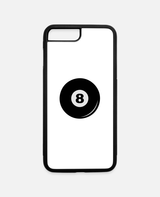 Ball iPhone Cases - Billiard ball 8 - iPhone 7 & 8 Plus Case white/black