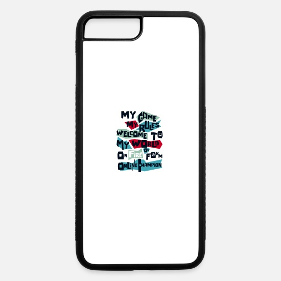 Game iPhone Cases - Text design - iPhone 7 & 8 Plus Case white/black