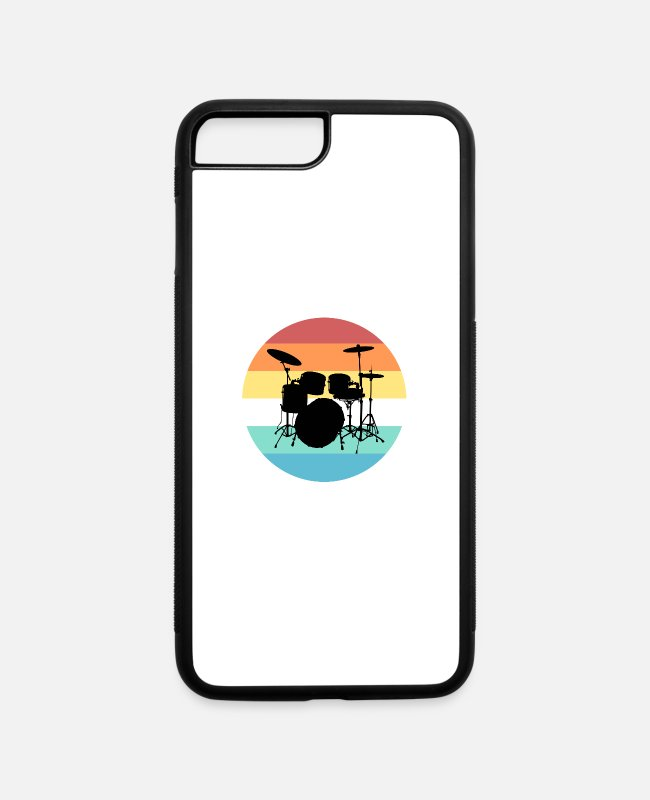 Drummer iPhone Cases - Drums - iPhone 7 & 8 Plus Case white/black