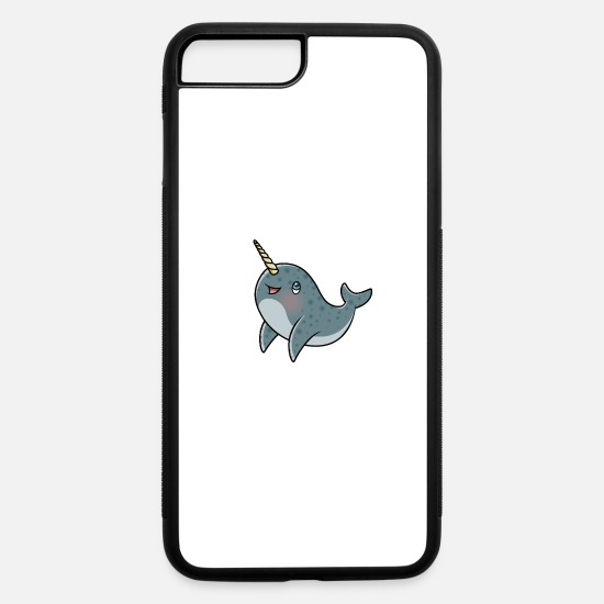 Horns iPhone Cases - Cute Kawaii Narwhal - iPhone 7 & 8 Plus Case white/black