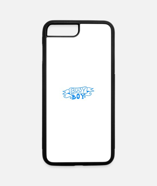 Mummy iPhone Cases - Baby Sayings Boy Cute Little Brother Busy boy - iPhone 7 & 8 Plus Case white/black
