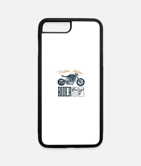 Horsepower iPhone Cases - Motorcycle Chopper Motor Sport Biker Girl Bike - iPhone 7 & 8 Plus Case white/black
