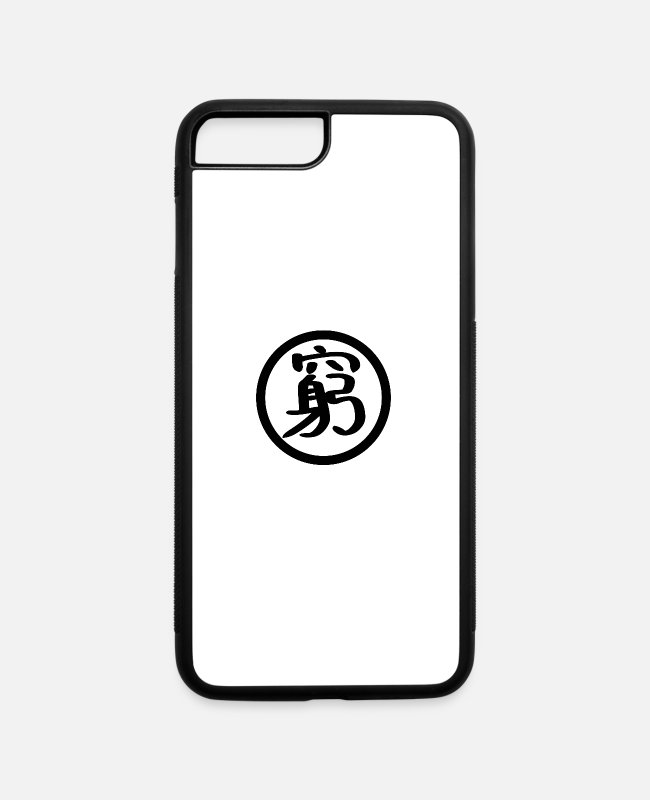 Asian Characters iPhone Cases - Poorer and poor - iPhone 7 & 8 Plus Case white/black
