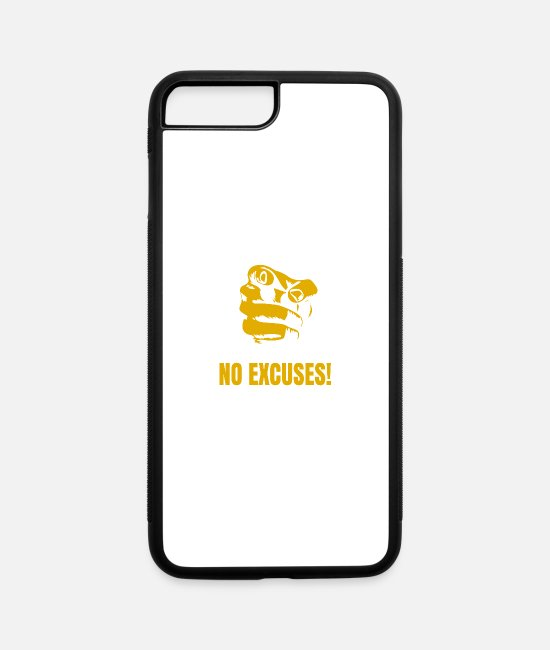 Excuses iPhone Cases - NO EXCUSES - iPhone 7 & 8 Plus Case white/black