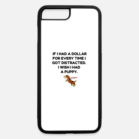 Euro iPhone Cases - Distracted - iPhone 7 & 8 Plus Case white/black