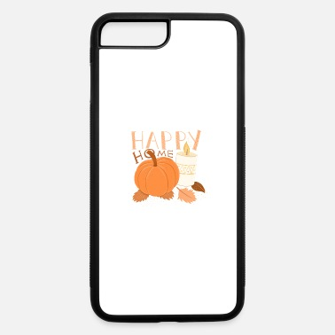 Fall HAPPY HOME Pumpkin and Candle alight HYGGE - iPhone 7 & 8 Plus Case