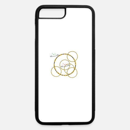 Romantic iPhone Cases - circles - iPhone 7 & 8 Plus Case white/black