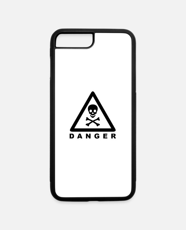 Black Metal iPhone Cases - Black Danger - iPhone 7 & 8 Plus Case white/black