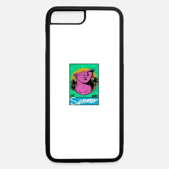 Aesthetic iPhone Cases - vaporwave Ancient Greek statue summer 1986 - iPhone 7 & 8 Plus Case white/black