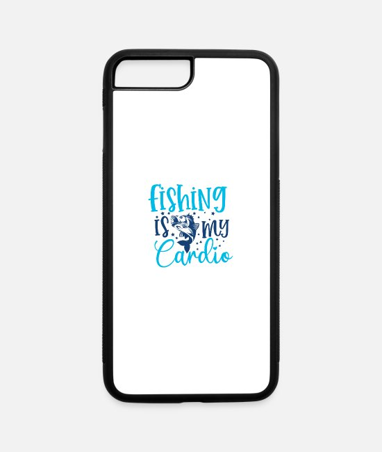 Sportscar iPhone Cases - Fishing Is My Cardio - iPhone 7 & 8 Plus Case white/black