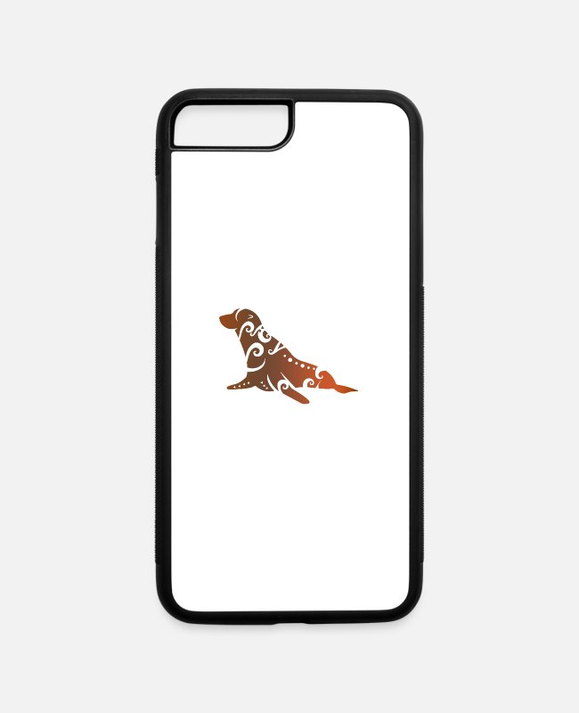Walrus iPhone Cases - New Zealand Fur Seal Maori Tribal Tattoo Gift Idea - iPhone 7 & 8 Plus Case white/black