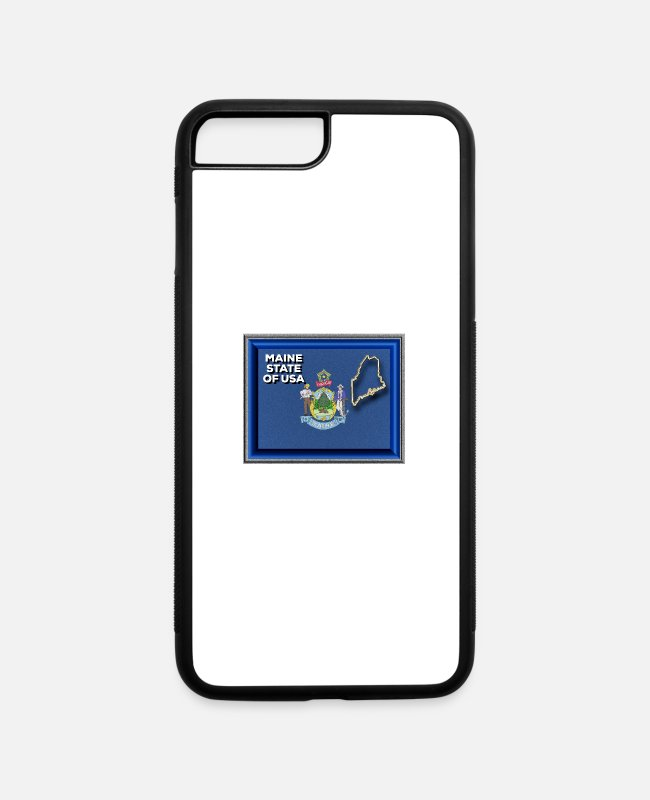 Portland iPhone Cases - Maine State of The USA - iPhone 7 & 8 Plus Case white/black