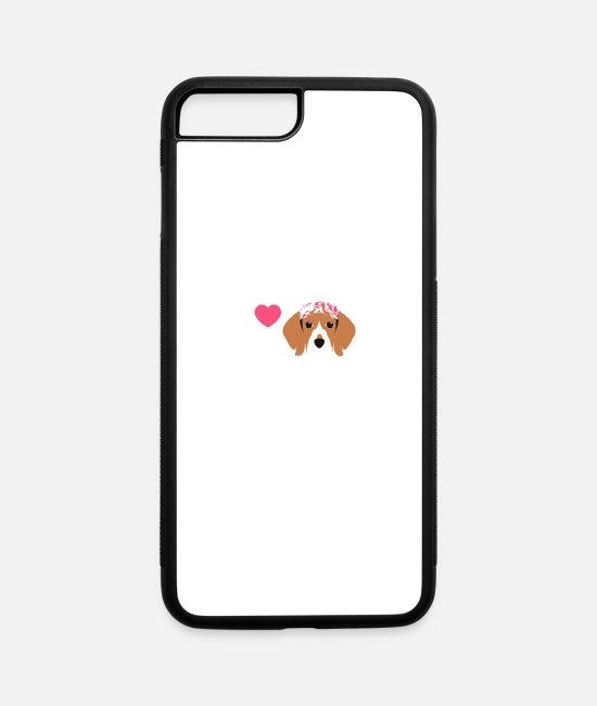 Love iPhone Cases - Beagle Love - iPhone 7 & 8 Plus Case white/black