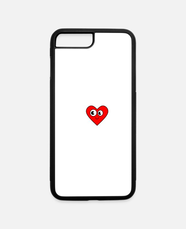 Heart iPhone Cases - sweat heart - iPhone 7 & 8 Plus Case white/black