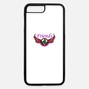 Skirt Text over leafy flower among wings - iPhone 7 & 8 Plus Case