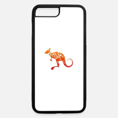 Wild Maori Kangaroo Polynesian Tribal Tattoo Gift Idea - iPhone 7 & 8 Plus Case