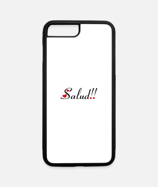 Infection iPhone Cases - salud corazones - heart bless you - iPhone 7 & 8 Plus Case white/black