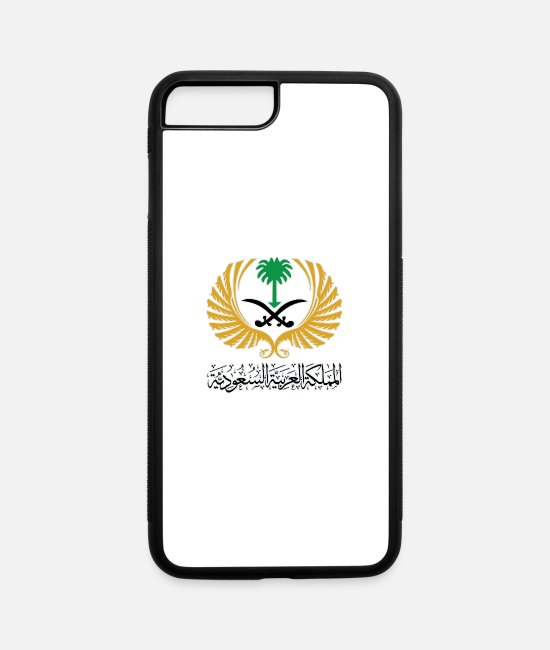 Saudi Arabia iPhone Cases - المملكة العربية السعودية - iPhone 7 & 8 Plus Case white/black