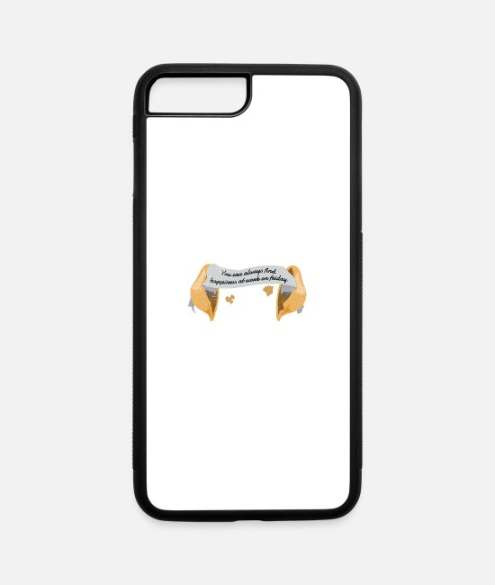 Inspiration iPhone Cases - Fortune Cookie You can always find happiness Funny - iPhone 7 & 8 Plus Case white/black