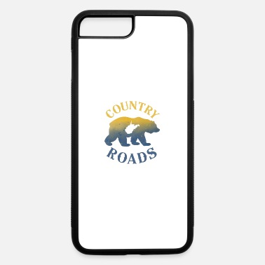 West Virginia Country Roads Bear Nature WV Map - iPhone 7 & 8 Plus Case