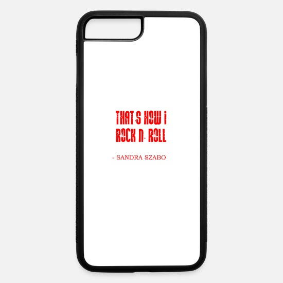 Rock Face iPhone Cases - Rock n' roll! - iPhone 7 & 8 Plus Case white/black
