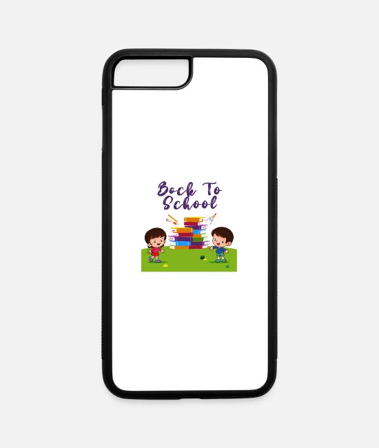 School Beginner iPhone Cases - School Starts Soon start learning - iPhone 7 & 8 Plus Case white/black