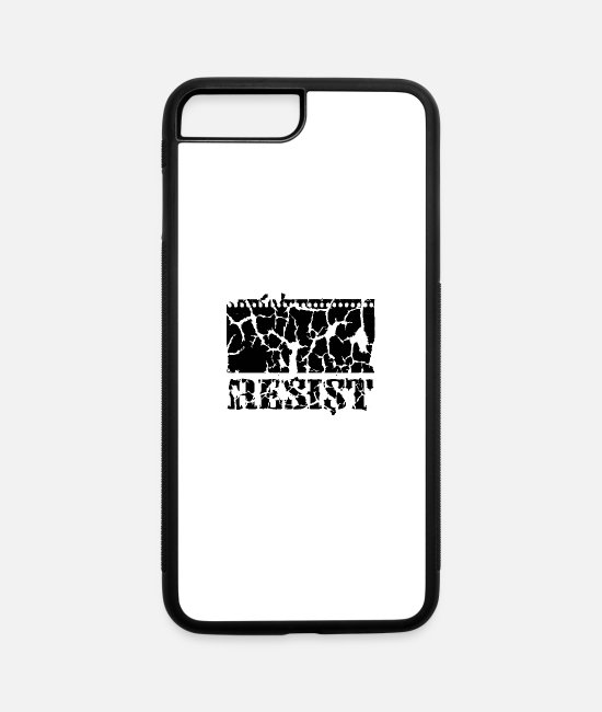 Kai iPhone Cases - Resistance Uprising Demo Occupy fight - iPhone 7 & 8 Plus Case white/black
