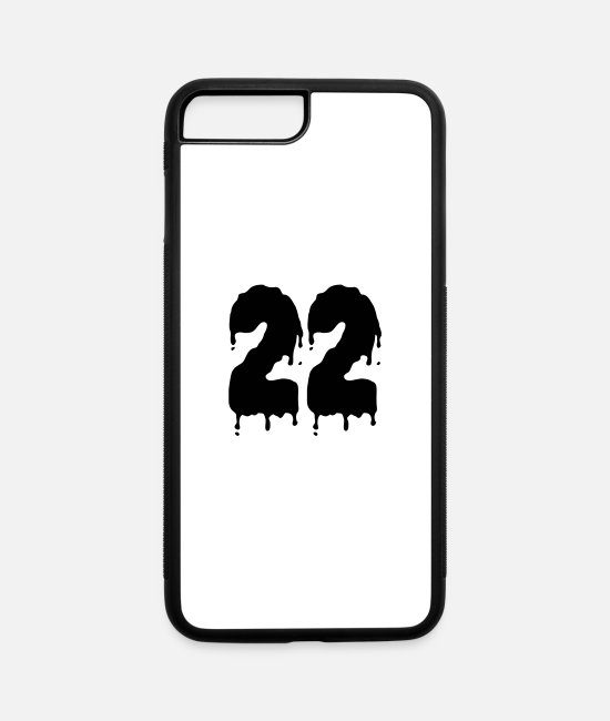22 iPhone Cases - 22_zahl_spunky_1_farbig - iPhone 7 & 8 Plus Case white/black
