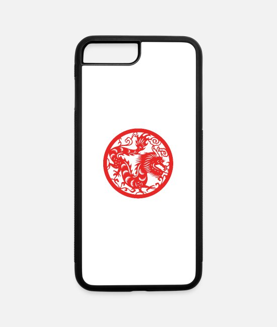 Chinese Zodiac iPhone Cases - Chinese New Years - Zodiac - Year of the Dragon - iPhone 7 & 8 Plus Case white/black