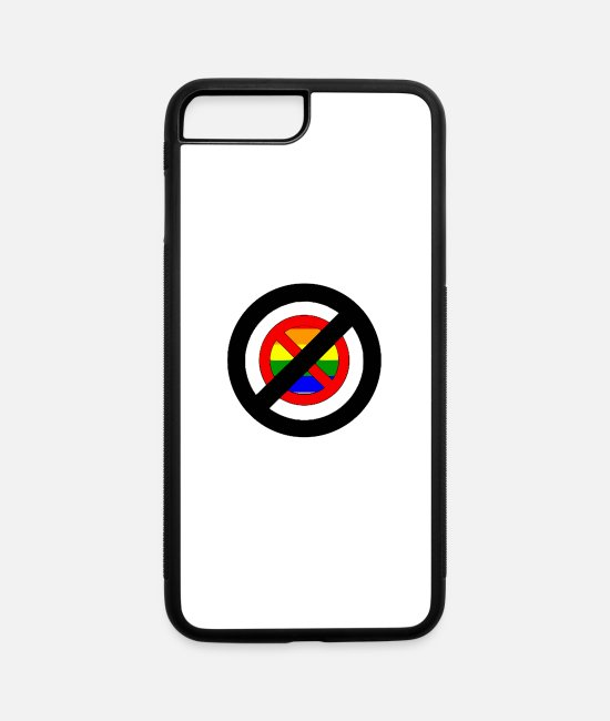 Outlaw iPhone Cases - Ban Homophobia - iPhone 7 & 8 Plus Case white/black
