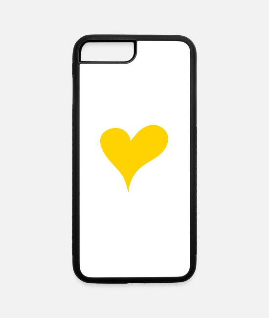 Heart iPhone Cases - Heart of Gold - iPhone 7 & 8 Plus Case white/black