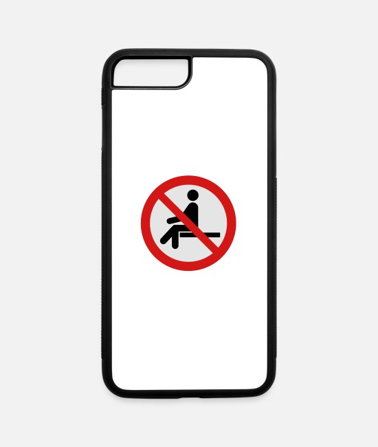 Passed iPhone Cases - No Sitting Here - iPhone 7 & 8 Plus Case white/black