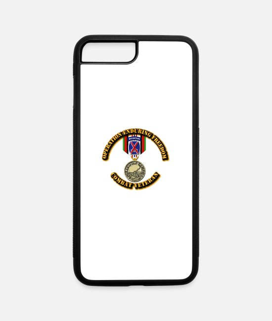 Operation Enduring Freedom iPhone Cases - Operation Enduring Freedom - 10th Mountain Divisio - iPhone 7 & 8 Plus Case white/black
