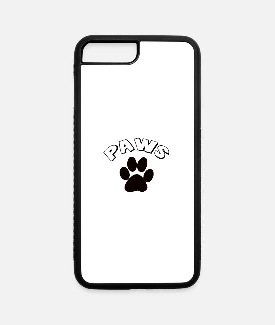 Heart iPhone Cases - PAWS - iPhone 7 & 8 Plus Case white/black