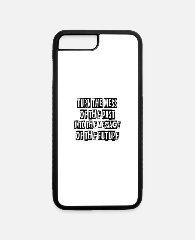Hidden Message iPhone Cases - Message of the Future - iPhone 7 & 8 Plus Case white/black