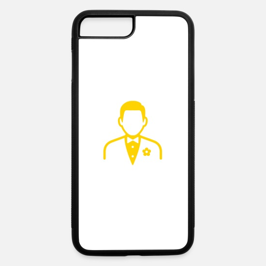Groom iPhone Cases - A Man In Suit - iPhone 7 & 8 Plus Case white/black