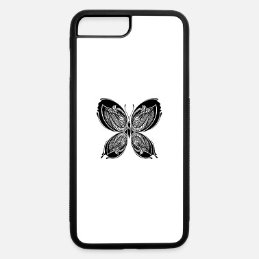 Cool tatoo shape butterfly insect wildlife vector - iPhone 7 & 8 Plus Case