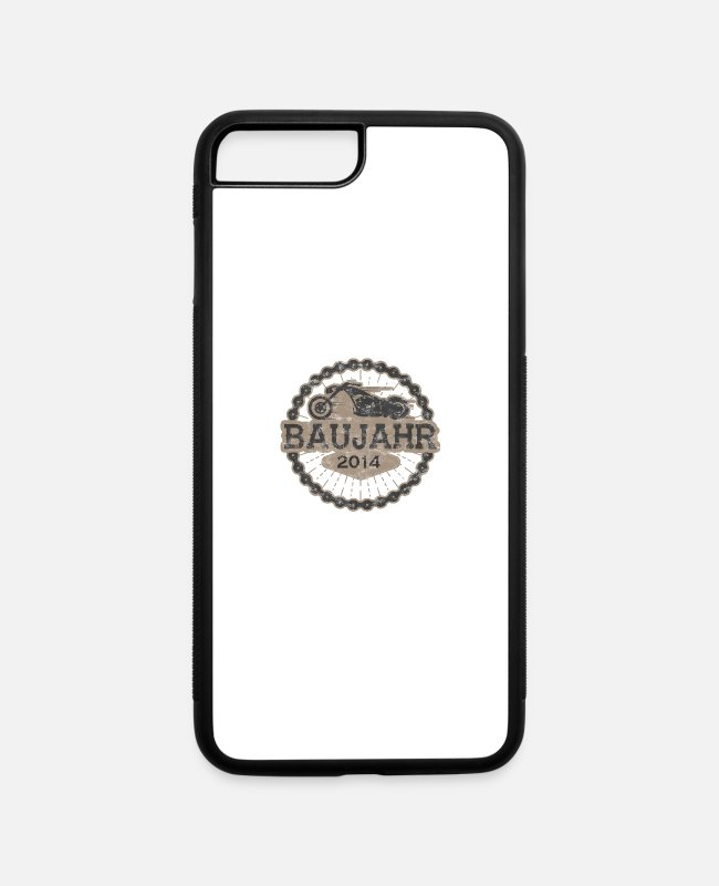 Undefined iPhone Cases - Baujahr biker geschenk born ride 2014 - iPhone 7 & 8 Plus Case white/black