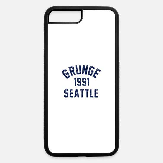 Seattle iPhone Cases - grunge seattle - iPhone 7 & 8 Plus Case white/black