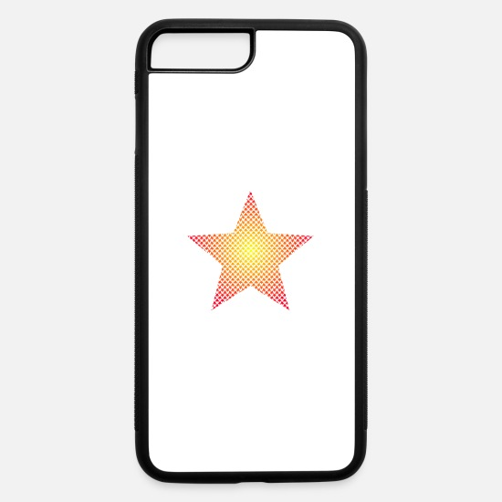 Star iPhone Cases - Multicolored stars in star shape - iPhone 7 & 8 Plus Case white/black