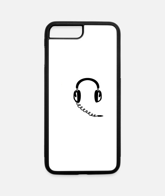 Headphones iPhone Cases - Headphones - iPhone 7 & 8 Plus Case white/black